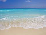White sand beach in Cancun Photographic Print