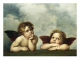 Painting of Cherubim After a Detail of Sistine Madonna