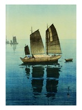Forenoon, from a Set of Six Prints of Sailing Boats