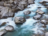Verzasca River rushing over boulders