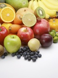 Stack of different kinds of fruits and vegetables