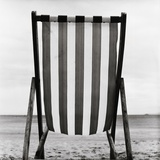 Striped Canvas Deck Chair Photographic Print