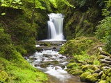 Geroldsauer Waterfall in Grobbach Valley in the Black Forest Photographic Print