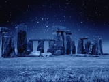Stonehenge at Night Photographic Print