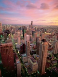 Downtown Chicago Fotografie-Druck