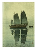 Evening, from a Set of Six Prints of Sailing Boats
