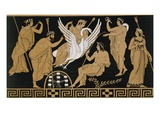 19th Century Greek Vase Illustration of Zeus Abducting Leda in the form of a Swan