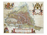 Gandavum, Map of Ghent