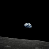 Earthrise and Lunar Horizon from Apollo 8 Photographic Print