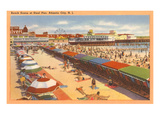 Beach Scene, Atlantic City, New Jersey