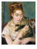 Renoir: Woman With A Cat Art Print