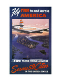 Trans-World Airlines 1950S Art Print