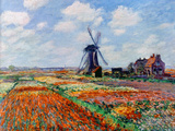 Monet: Tulip Fields, 1886 Art Print