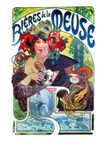 Beer Ad By Mucha, C1897 Art Print