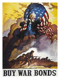 World War Ii Bond Poster Giclee Print
