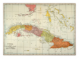 Map: Cuba, 1900