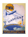 Trans-World Airlines 1934 Giclee Print