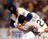Nolan Ryan vs Ventura w/ Dont Mess with Texas  Autographed Photo (Hand Signed Collectable)