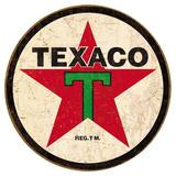 Texaco '36 Round Tin Sign