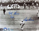 Ralph Branca/Bobby Thomson with Jackie Robinson With Date Autographed Photo (H& Signed Collectable)