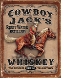 Cowboy Jacks Tin Sign