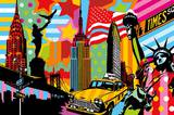 New York Taxi I Art Print