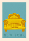 New York - Cab Art Print