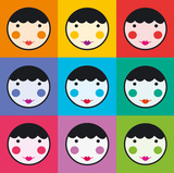 Colourful Smiles Art Print