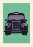 London - Cab I Art Print