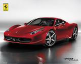 Ferrari 458 Italia Mini Poster