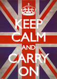 Buy Keep Calm & Carry On - Union Jack at AllPosters.com