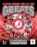 University of Alabama Crimson Tide All Time Greats Composite