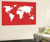 Carte du monde en rouge