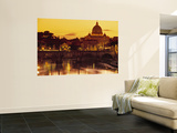Buy St Peter's Basilica and Ponte Saint Angelo, Rome, Italy at AllPosters.com