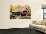 Covered Bridge over Pemigewasset River, White Mountains Laminated Oversized Art