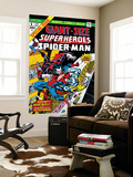 Giant-Size Super-Heroes No.1 Cover: Spider-Man, Morbius and Man-Wolf Fighting
