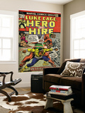 Marvel Comics Retro: Luke Cage, Hero for Hire Comic Book Cover No.14, Fighting Big Ben (aged)