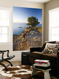 Hiker on Path High Loutro Laminated Oversized Art