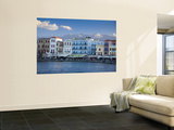 Hania Harbour with White Mountains Behind Laminated Oversized Art
