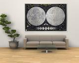 Carte de la Terre et de la Lune 1969