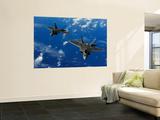 U.S. Air Force F-22 Raptors in Flight Near Guam