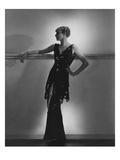 Vogue - August 1934 - Schiaparelli Black Paillette Gown