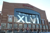 New York Giants and New England Patriots - Super Bowl XLVI - February 5, 2012: Lucas Oil Stadium