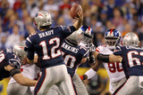New York Giants and New England Patriots - Super Bowl XLVI - February 5, 2012: Tom Brady