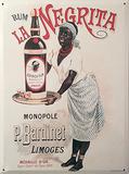 Affiche publicitaire pour le rhum La Negrita