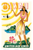 United Air Lines: Hawaii - Only Hours Away, c.1950s