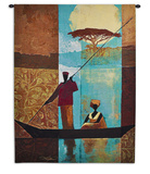 On the River I Wall Tapestry