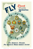 Pan American: Fly Round South America, c.1950s