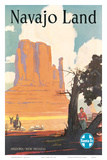 Buy Santa Fe Railroad: Navajo Land, c.1954 at AllPosters.com