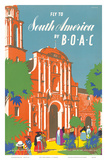 British Overseas Airways Corporation: Fly to South America by BOAC, c.1950s